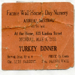 Fannie Wall Children's Home and Day Nursery, Inc. Records