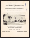 California State Association of Colored Women's Clubs, Inc. sixty-first annual state convention and National Association of Colored Girls thirtieth annual state convention June 20-24, 1967 program