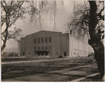 West and South elevations of newly completed Oakland Municipal Auditorium, circa 1914