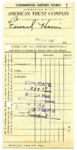 Oakland Larks Baseball Club deposit slips and daily statement of admissions