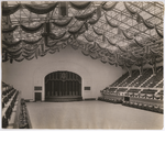 View of stage in the Oakland Municipal Auditorium Arena, circa 1914
